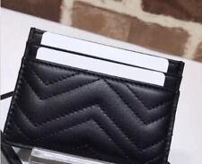 Genuine Leather Lookalike Designer Women's Cardholder Black