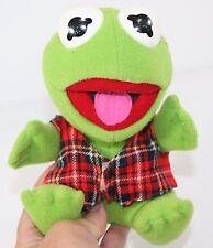 "Vintage Plush BABY KERMIT FROG Muppets Christmas HENSON 1987 7"""