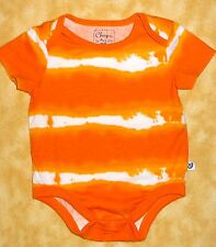 """cute chaps baby one piece 3 months orange & white great condition 14"""" long"""