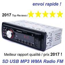autoradio stéréo voiture FM Aux entrées SD USB MP3 WMA Radio facade détachable