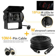 4 PIN Heavy Duty 12V 24V CCD IR Colour Reverse Reversing Camera Rearview 10M