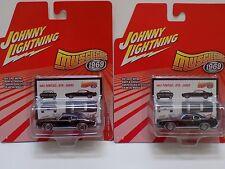2 JOHNNY LIGHTNING MUSCLE CARS 1969 PONTIAC GTO JUDGE W/DIFFERENT RIMS