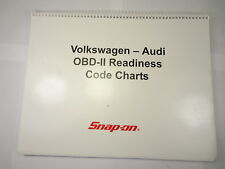 Snap On Volkswagen-Audi OBDII Scanner Readiness Code Charts Manual 2004