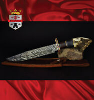 Damascus hunting knife 016XLEP Stag Hunter KingForge Bush knife Rambo Bowie gift