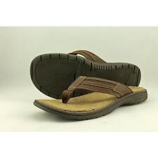 St. John's Bay 629-6005 Men US 12 Brown Thong Sandal Blemish  14271