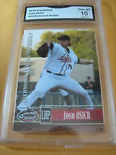 JOSH OSICH SQUIRRELS GIANTS 2014 GRANDSTAND ROOKIE RC # 39 GRADED 10