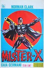 MISTER X belgian movie poster (Norman Clarck, batman, comics, ..)