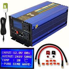 2500W/5000W Peak DC12V PURE SINE WAVE POWER INVERTER LCD DISPLAY + REMOTE SWITCH