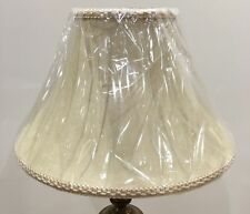 Brand New Large Table Lampshade Bell Shape Suede Lined Colour /Pattern Braiding