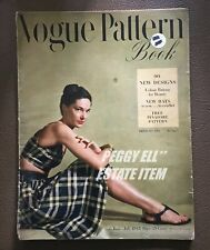 JUNE-JULY 1945 VOGUE PATTERN BOOK BI-MONTHLY PRINTING BY CONDE NAST PUBLICATIONS