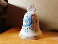 VINTAGE Noritake Christmas Bell 1974 Bone China Ornament