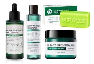Somebymi AHA BHA PHA Miracle 30days cleansing Toner, Serum, Soap, Cream