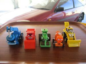 Bob the Builder's Gang-Scoop,Muck,Dizzy, Roley & Lofty Take-A-Long toys bulk lot