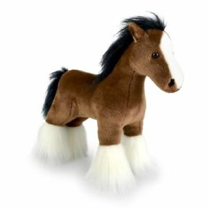 Korimco 30cm Clive Standing Horse Soft Animal Plush Stuffed Toy Kids 3y+ Brown