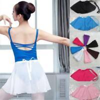 Ballet Dance Tutu Skirt Leotard Wrap Scarf Skate Costume Exercise Dress Chiffon