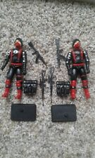 GI Joe Black Major custom Cobra Soldiers black with red straps