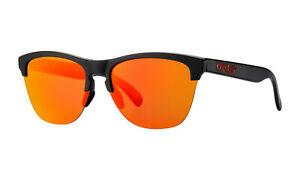 Oakley Ruby Frogskins Lite Sunglasses Matte Black Frame Prizm Ruby Lens