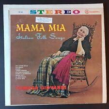 Mama Mia ~ Italian Folk Songs ~ Tomas Giovanni ~ MST 836 ~ Fast Shipping!