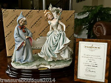 "Mint & COA~Limited Edition Giuseppe Armani Disney ""Cinderella & Fairy Godmother"""