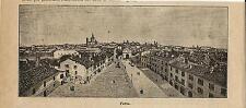 Stampa antica PAVIA veduta panoramica Lombardia 1899 Old antique print