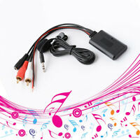 1.5 meters Car 2RCA Bluetooth Wireless Connection Adapter AUX Music+MIC Phone