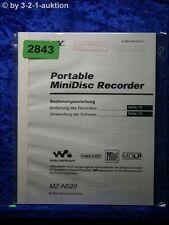 Sony Bedienungsanleitung MZ N520 Mini Disc Recorder  (#2843)