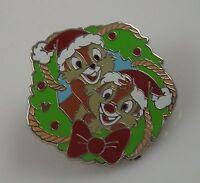 Disneyland pin Christmas Chip Dale in santa hat Disney