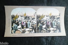 STA656 Tokyo Japon Port Arthur couleurs STEREO photo Photography Stereoview