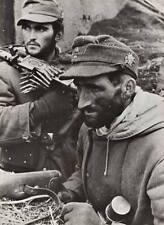 WWII B&W Photo German Gebirgsjager w MG34  WW2 World War Two Wehrmacht /2060
