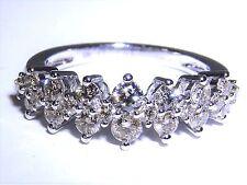 9CT WHITE GOLD HALF HOOP 1.03CT  VS Si DIAMOND ETERNITY WEDDING BAND RING