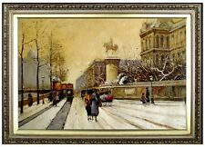 Framed Quality Hand Painted Oil Painting, Paris 24x36in