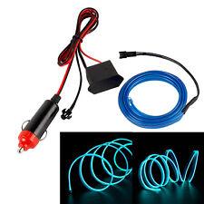 2X  1M Auto LED EL Ambientebeleuchtung Innenraumbeleuchtung Lichtleiste blau