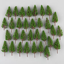 50pcs Pine Trees Model Train Park Trees for HO or OO Scale Scenery 78mm
