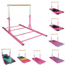 Gymnastics Bar Horizontal Kip Bar + Gymnastics Tumbling Mat For Junior Training
