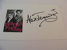 ALEX JENNINGS Signed Card Autograph Stage Film TV Actor Silk Lady In The Van
