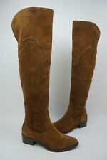 Frye Ray Grommet Over the Knee Wood Brown Suede Boots Size 6 M