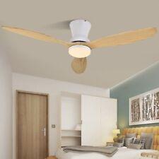 Modern LED Wooden Ceiling White Nordic Living Room Attic Fans With Lights 220v
