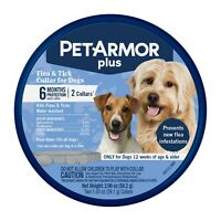 PetArmor Plus Flea & Tick Collar for Dogs, 6 Months Protection (2-Pack) FITS ALL