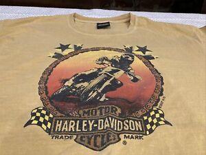 Vtg Harley Davidson T Shirt Dirt Bike Motorcycle Shirt Size Las Vegas, Nevada XL