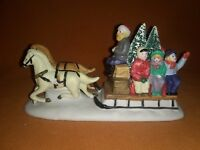 Lemax Dickensvale Collectible Porcelain Country Sled Ride 1993