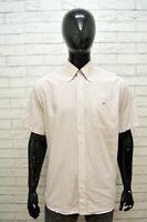 Camicia Uomo LACOSTE Manica Corta Camicetta Taglia 43 XL Maglia Shirt Man Casual