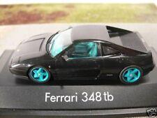 1/43 Herpa Ferrari 348 tb schwarz/türkis 19.99 STATT 30€ SONDERPREIS 010122