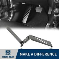 Hooke Road Black Steel Dead Pedal Foot Rest Panel Fit Jeep Wrangler JL 2018-2020