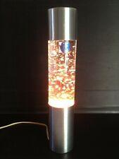 Lampe d'ambiance à paillettes TC modèle déposé alu brossé couleurs 37cm 1970