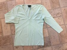 New York & Co V-Neck Sweater in Pastel Green Sz S