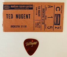 Ted Nugent Guitar Pick From Madison Square Garden - August 4th 1979