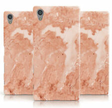DYEFOR FAUX MARBLE RED PHONE CASE COVER FOR SONY XPERIA