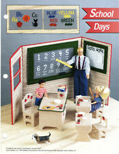 """""""SCHOOL DAYS""""~Plastic Canvas PATTERN INSTRUCTIONS ONLY fits BARBIE FASHION DOLL"""
