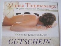 Gutschein Thaimassage, Öl-Massage, Hot-Stone, Thai-Sport in Eschenbach Geschenk