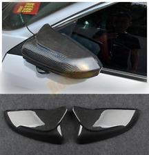 2PC For Honda Civic 2016-2020 Real carbon fiber OX Horn Car Rearview Mirror Trim